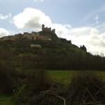 vista del castillo de Pelegrina