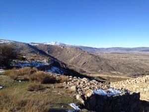 Vistas de Gredos desde el castro de Ulaca