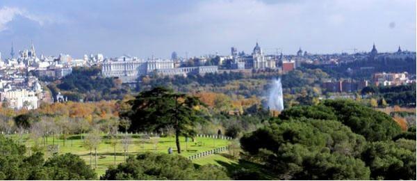 Vistas del palacio real desde la casa de campo