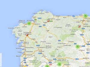 Mapas de orientación en Galicia