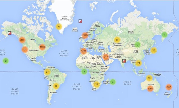 Mapas de orientación del mundo