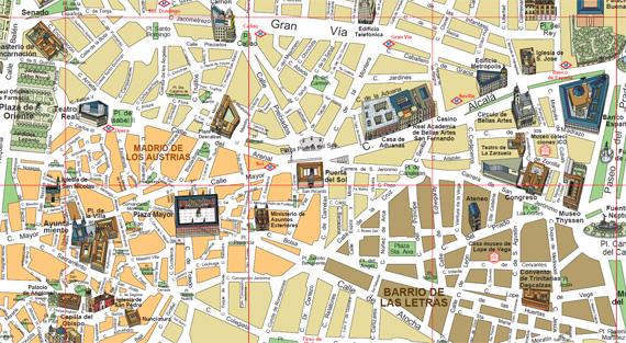 Mapa De Nombres Plano Madrid Central.Orientacion De Un Mapa Ejercicio Facil Para Todos