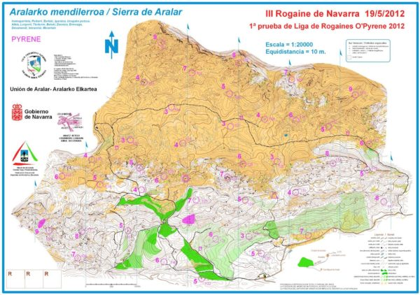 mapa-rogaine-navarra-sierra-aralar